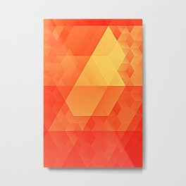 Orange Glow Gradient Ocean Sunset Metal Print