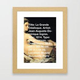 La Grande Odalisque, Ingres, 1814, Musée du Louvre, Paris Framed Art Print