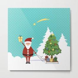 Santa Claus and gifts Metal Print