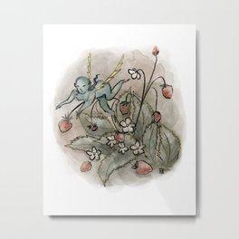 Strawberry Blessings Metal Print
