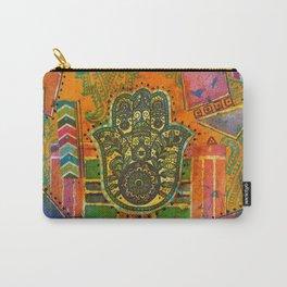 Boho & Batik Hamsa Carry-All Pouch