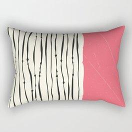 Pink Zebra Stripes Rectangular Pillow