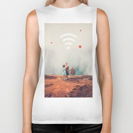Wirelessly connected to Eternity Biker Tank