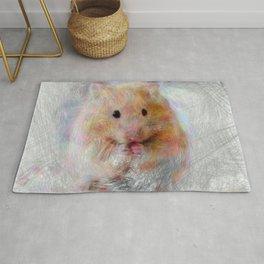 Artistic Animal Hamster Rug