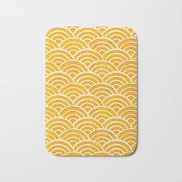 Japanese Seigaiha Wave – Marigold Palette Bath Mat