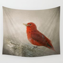 Song of the Summer Tanager 1 - Birds Wall Tapestry