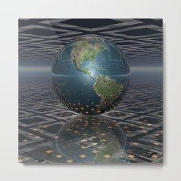 Earth Horizons Metal Print
