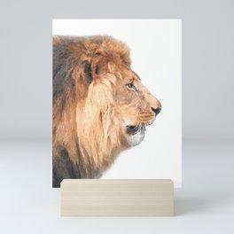 Lion Profile Mini Art Print