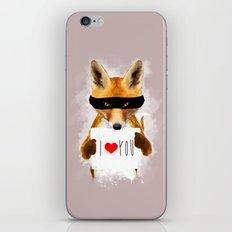 Fox I Love You iPhone & iPod Skin