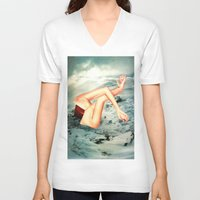 camp V-neck T-shirts featuring Camp by Erin Case