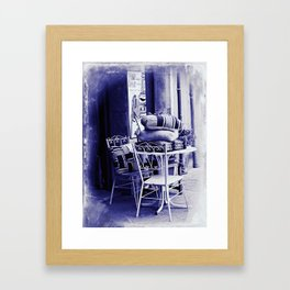 Table For Two Vintage Style Framed Art Print