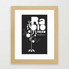 Radiohead song - Last flowers illustration white Framed Art Print