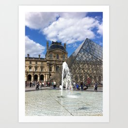 Louvre in Summer Art Print
