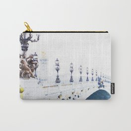 Pont Alexandre III Paris Bridge Watercolor Carry-All Pouch