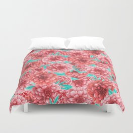 Pink Floral Pattern Duvet Cover