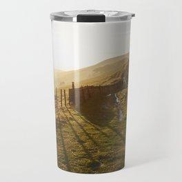 Rushup Edge at sunset. Derbyshire, UK. Travel Mug
