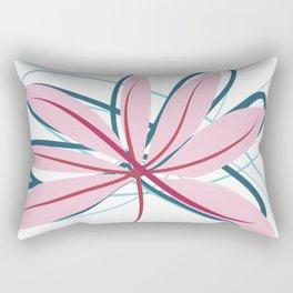 Wide Diverging Aralia Minimalist Botanical Abstract Art Rectangular Pillow