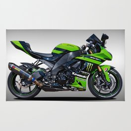 Kawasaki Motorbike Rug