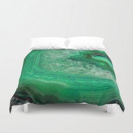 Green Emerald Agate Duvet Cover