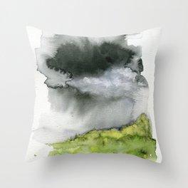 Summer's Rain Throw Pillow