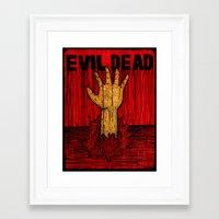 evil dead Framed Art Prints featuring Evil Dead by Pineyard
