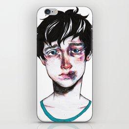sad boy iPhone Skin