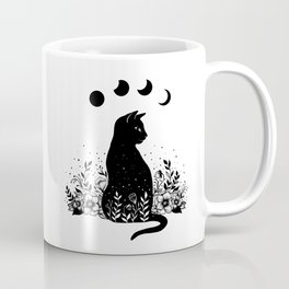Night Garden Cat Coffee Mug