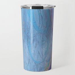 """I Allow It"" (Blue Dress) original painting by Alison Moncrieff Travel Mug"