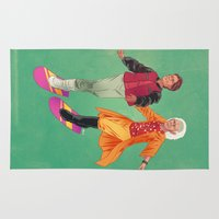 back to the future Area & Throw Rugs featuring Back to the Future by Dave Collinson