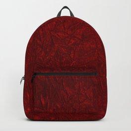 Red Crushed Velvet Backpack