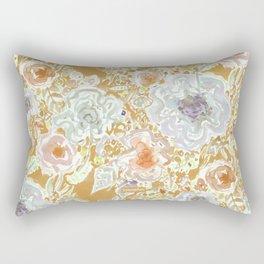 GROOVY PARADISE Golden Hibiscus Floral Rectangular Pillow