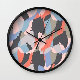 Modern abstract print Wall Clock