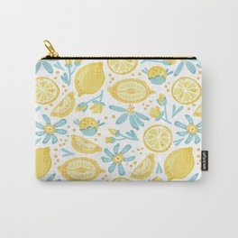 Lemon pattern White Carry-All Pouch