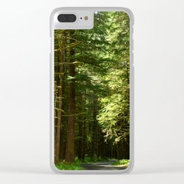 On A Road To The Rainforest Clear iPhone Case