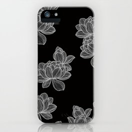 Flowers over Black iPhone Case