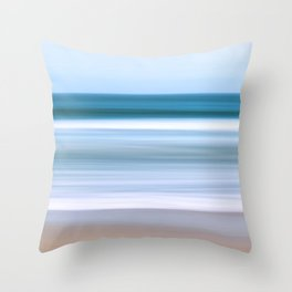 Abstract Ocean Waves Throw Pillow