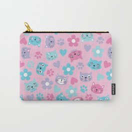 Kitty Cat Pattern by Everett Co Carry-All Pouch