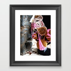 Ganesha and Romanian Point Lace Fine Art Photography Framed Art Print