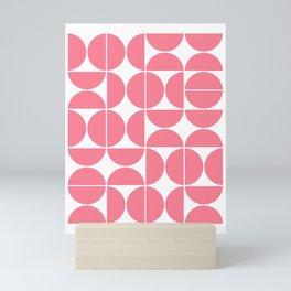 Mid Century Modern Geometric 04 Pink Mini Art Print