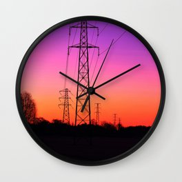 Power lines 18 Wall Clock