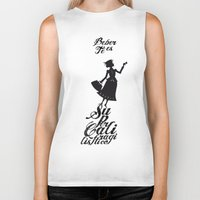 mary poppins Biker Tanks featuring Mary Poppins té by Creo tu mundo