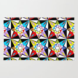 symetric patterns 81-mandala,geometric,rosace,harmony,star,symmetry Rug