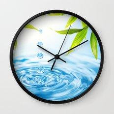 Water Drops Wall Clock