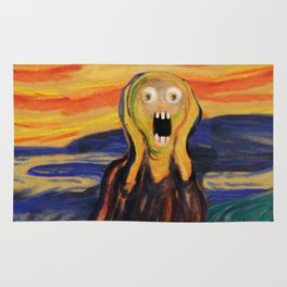 The Screamer - Really Freaked Out Rug