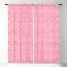 Light Pink Basketweave Blackout Curtain