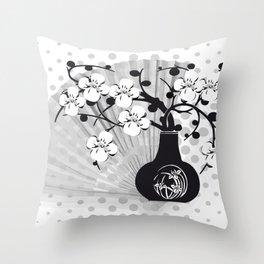 Stillleben Kirschblüten Throw Pillow