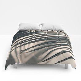 Gray Palm #2 Comforters