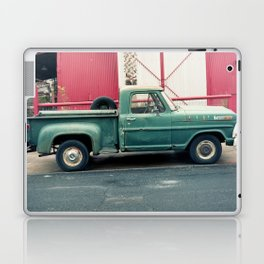 Old Truck & Red Building Laptop & iPad Skin