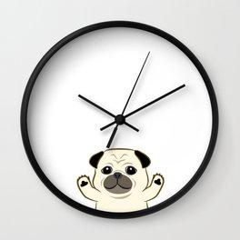 Hug Pug Wall Clock