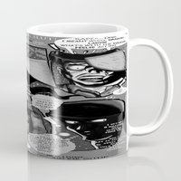 infamous Mugs featuring  Bird of Steel Comix – #8 of 8  - (Society 6 POP-ART COLLECTION SERIES) by Tex Watt